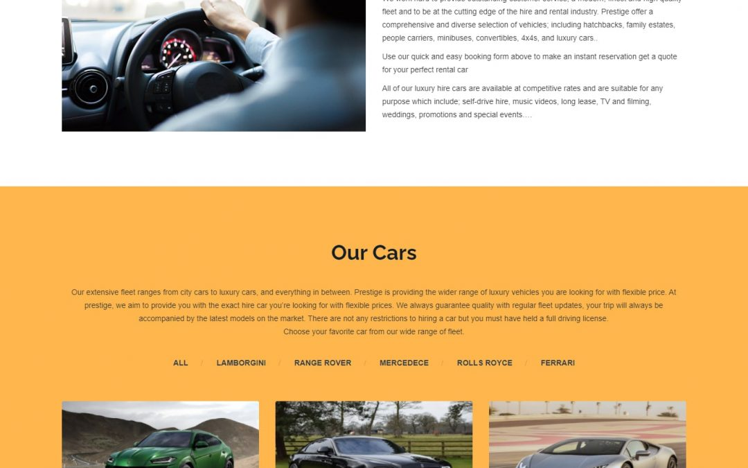 PRESTIGE CAR HIRE UK
